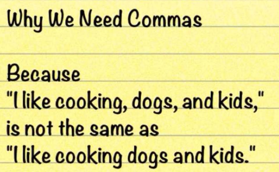 where are the commas essay