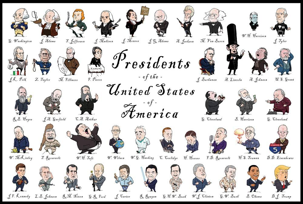 Caricature dei 45 Presidenti americani